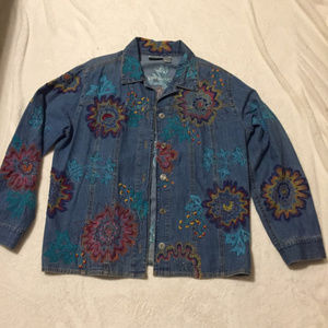 Chico Jean Jacket Covered in Embroidery